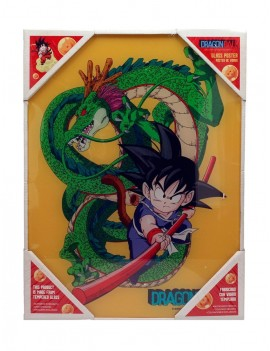 Dragonball Z Glass Poster Kid Goku & Shenron 30 x 40 cm