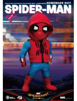 Spider-Man: Homecoming Egg Attack Action Figure Spider-Man Homemade Suit 17 cm