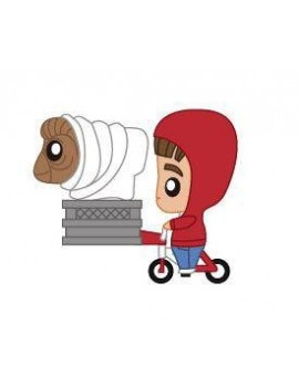 E.T. the Extra-Terrestrial Pokis Rubber Minifigure Elliott & E.T. on Bike 6 cm