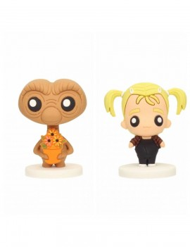 E.T. the Extra-Terrestrial Pokis Rubber Minifigures Gertie & E.T. 6 cm