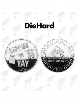 Die Hard Collectable Coin Yippee Ki Yay Silver Edition