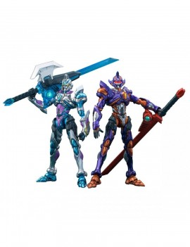 SSSS.Gridman Actibuilder Action Figures Grid Night & Gridman Initial fighter Set 10 cm