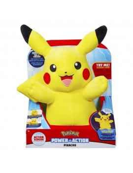 Pokémon Power Action Plush Figure with Sound & Light Up Pikachu 25 cm