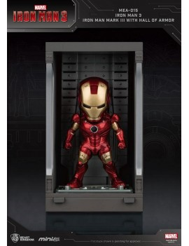 Iron Man 3 Mini Egg Attack Action Figure Hall of Armor Iron Man Mark III 8 cm