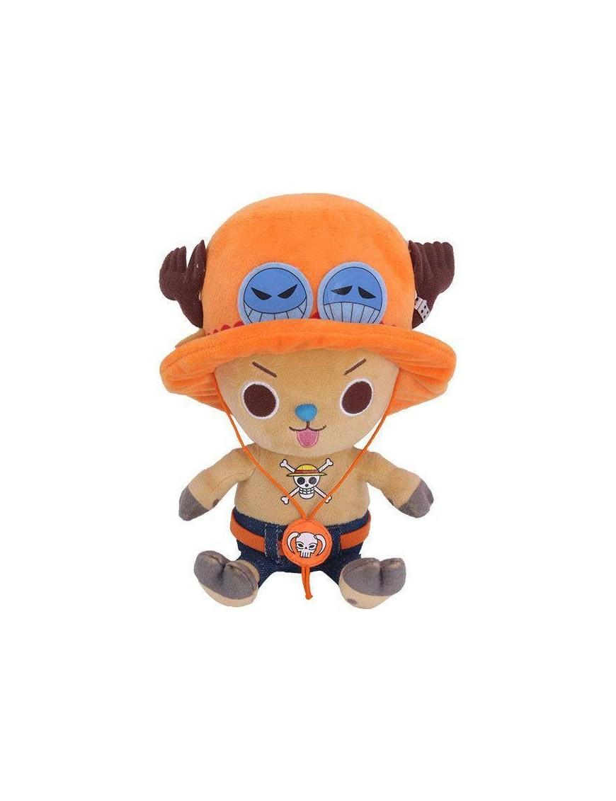 One Piece Plush Figure Chopper x Ace 11 cm