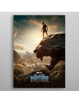 Marvel Metal Poster Black Panther Long Live The King 32 x 45 cm