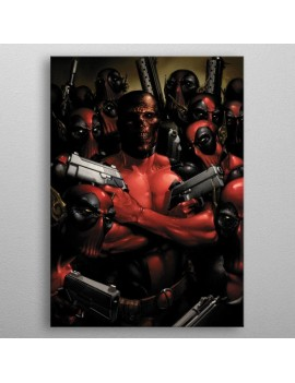 Marvel Metal Poster Deadpool Gritty Wrong Neighborhood 32 x 45 cm