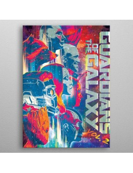 Marvel Metal Poster GOTG2 Guardians 10 x 14 cm