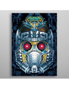 Marvel Metal Poster GOTG2 Star-Lord Helmet 10 x 14 cm