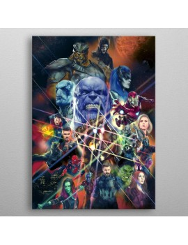 Marvel Metal Poster Infinity War Characters 10 x 14 cm