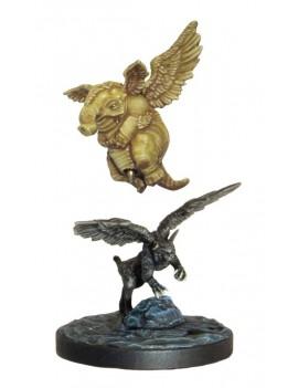 D&D Collectors Series Miniatures Unpainted Miniatures Descent into Avernus Lulu & Slobberchops