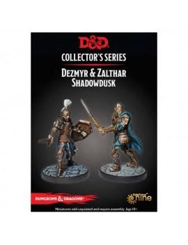 D&D Collectors Series Miniatures Unpainted Miniatures Dezmyr & Zalthar