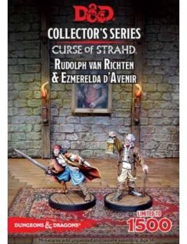 D&D Collectors Series Miniatures Unpainted Miniatures Ezmerelda D'Avenir & Rudolph Van Richten