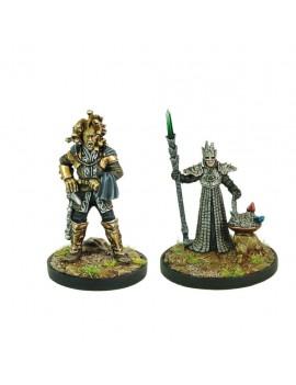D&D Collectors Series Miniatures Unpainted Miniatures Marlos Urnrayle & Earth Priest