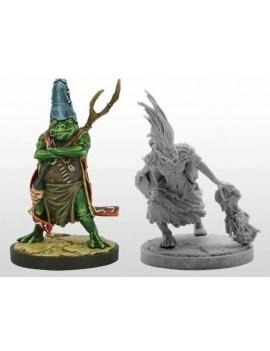 D&D Collectors Series Miniatures Unpainted Miniatures The Rise of Tiamat - Pharblex & Sandesyl