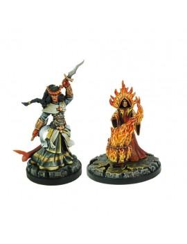 D&D Collectors Series Miniatures Unpainted Miniatures Vanifer & Fire Priest