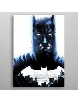 DC Comics Metal Poster Batman Light Absorption Heart of Gotham 32 x 45 cm