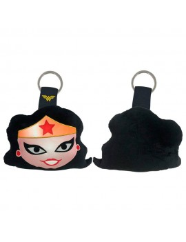 DC Comics Plush Keychain Wonder Woman Face 6 cm