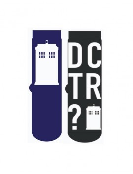 Doctor Who Mens Socks 2-Pack Tardis