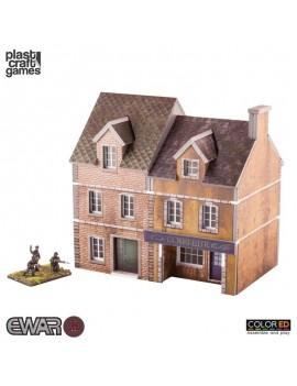 EWAR WWII ColorED Miniature Gaming Model Kit 15 mm Semi-detached Building