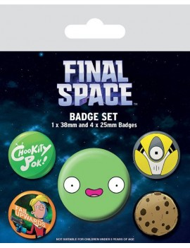 Final Space Pin Badges 5-Pack Spaced