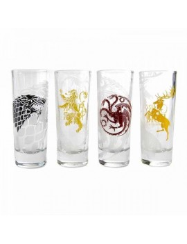 Game of Thrones Shotglass 4-Pack Sigils
