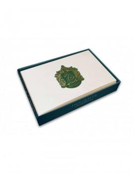 Harry Potter Foil Note Cards 10-Pack Slytherin 89 x 132 mm