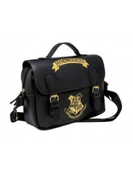 Harry Potter Lunch Bag Hogwarts Black & Gold (Satchel Style)