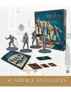 Harry Potter Miniature 35 mm 4-Pack Scabior & Snatchers *English Version*