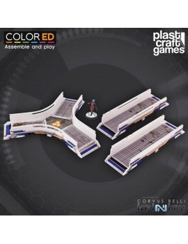 Infinity ColorED Miniature Gaming Model Kit 28 mm Walkway Set