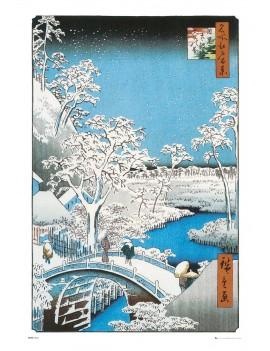 Japanese Art Poster Pack The Drum Bridge by Utagawa Hiroshige 61 x 91 cm (5)