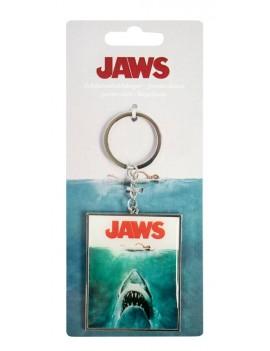 Jaws Metal Keychain Logo