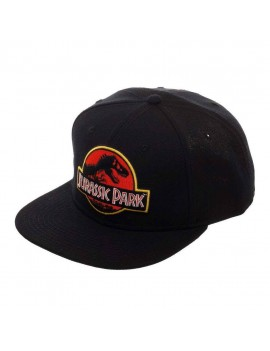 Jurassic Park Snapback Cap Logo Black