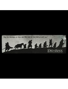 Lord of the Rings Leather Bookmark Fellowship Silhouette