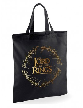 Lord of the Rings Tote Bag Gold Foil Logo
