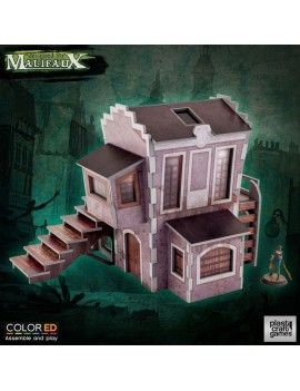 Malifaux ColorED Miniature Gaming Model Kit 32 mm Downtown Building