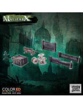 Malifaux ColorED Miniature Gaming Model Kit 32 mm Railway Prop Set