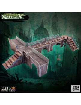 Malifaux ColorED Miniature Gaming Model Kit 32 mm Sewers Walkway Set