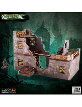 Malifaux ColorED Miniature Gaming Model Kit 32 mm Slum Ruins