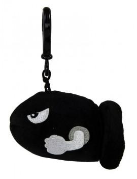 Mario Kart Mocchi-Mocchi Clip On Plush Hanger Bullet Bill 10 cm