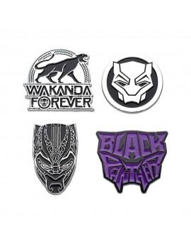 Marvel Collectors Pins 4-Pack Black Panther