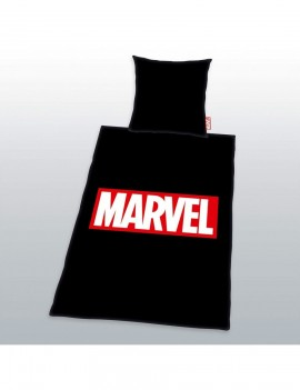 Marvel Comics Duvet Set Logo Black 135 x 200 cm / 80 x 80 cm