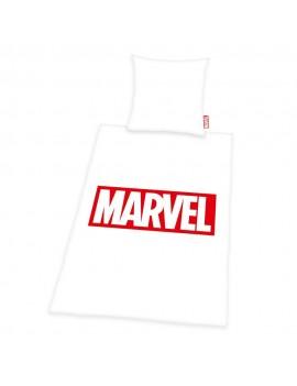Marvel Comics Duvet Set Logo White 135 x 200 cm / 80 x 80 cm