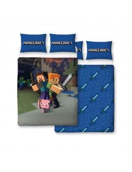 Minecraft Duvet Set Reversible Good Guys 200 x 200 cm / 48 x 74 cm
