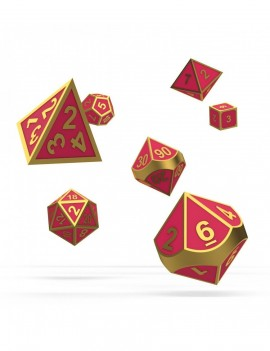 Oakie Doakie Dice RPG Set Metal Glow in the Dark - Golden Princess (7)