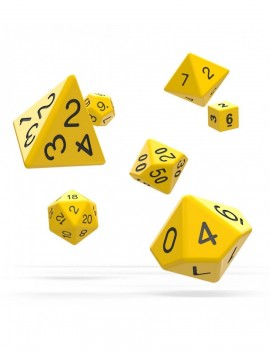 Oakie Doakie Dice RPG Set Solid - Yellow (7)
