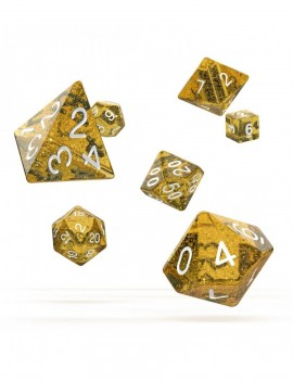 Oakie Doakie Dice RPG Set Speckled - Orange (7)