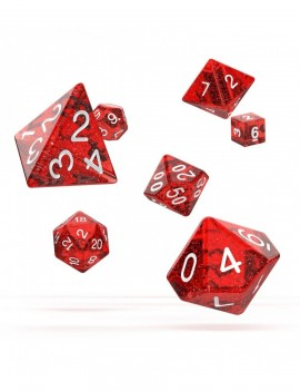 Oakie Doakie Dice RPG Set Speckled - Red (7)