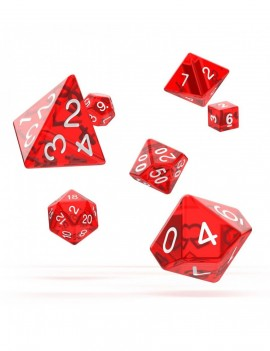 Oakie Doakie Dice RPG Set Translucent - Red (7)