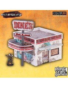 Post Apocalypse ColorED Miniature Gaming Model Kit 28 mm Diner